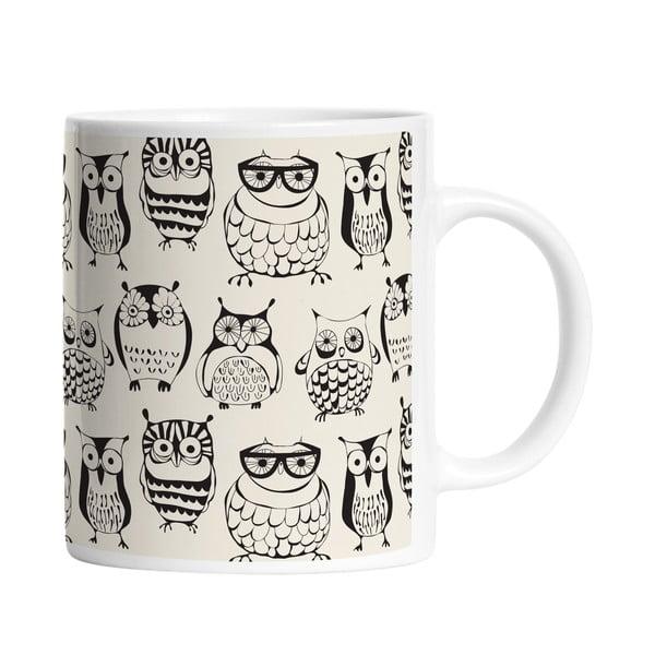 Ceramiczny kubek Clever Owls, 330 ml
