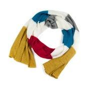 Żółto-niebieski szalik damski Art of Polo Belinda