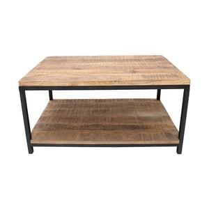 Czarny stolik z blatem z drewna mangowca LABEL51 Vintage XL