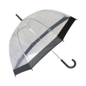Parasol Ambiance Susino Noir Transparent