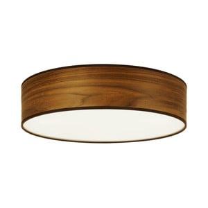 Lampa sufitowa z naturalnego forniru w kolorze drewna orzechowego Sotto Luce TSURI, Ø 40 cm