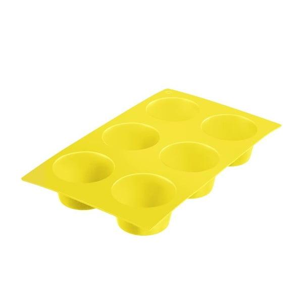 Silikonowa foremka na muffiny Baking, żółta