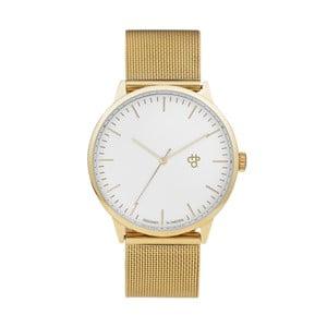 Zegarek w złotej barwie z białym cyferblatem CHPO Nando