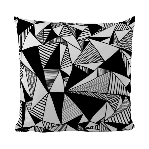 Poduszka Black Shake All Triangles, 50x50 cm