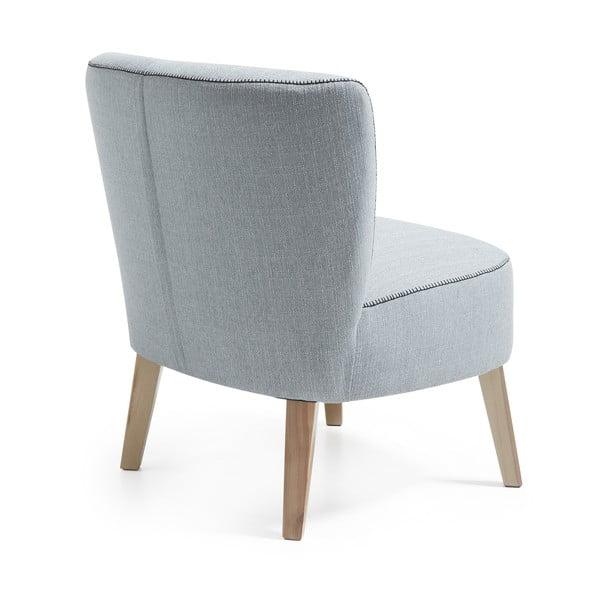 Szaroniebieski fotel La Forma Jim
