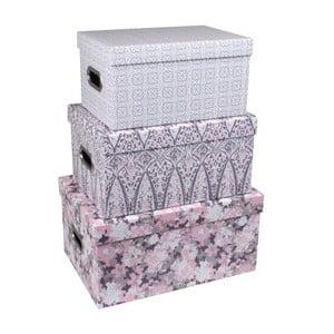 Zestaw 3 pudełek z uchwytami Tri-Coastal Design Vintage Love