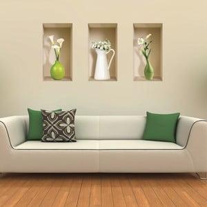 Naklejka 3D na ścianę Vases Blanc
