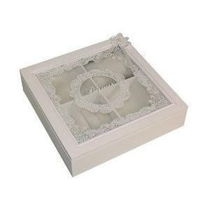 Biała szkatułka na biżuterię Antic Line Bijoux
