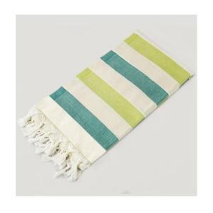 Ręcznik hammam Rainbow Style Green Cream, 100x180 cm