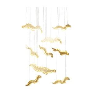 Lampa sufitowa w złotej barwie Kare Design Float