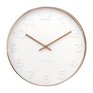 Biały zegar Present Time Mr. White Numbers
