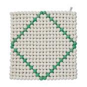 Dywan modułowy Wool Mat White/Mint, 40x40 cm