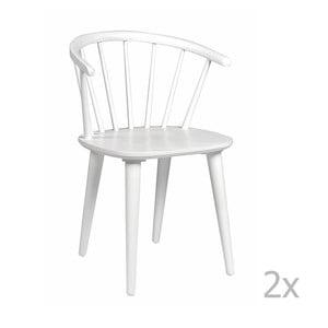 Zestaw 2 białych krzeseł Folke Carmen