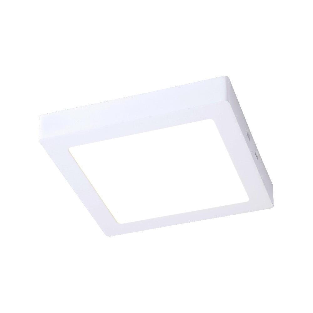 Biała zewnętrzna lampa sufitowa z LED SULION Pluriel Square