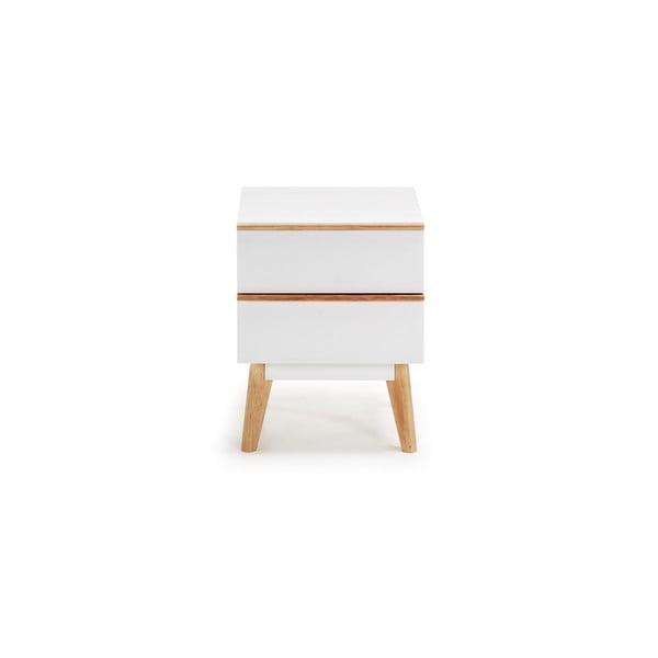 Biała szafka nocna La Forma Meety, 42,5x40cm