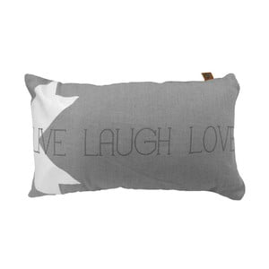 Poduszka Overseas Live Laugh Love Smoke, 30x50 cm