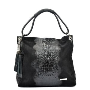 Czarna torebka skórzana Luisa Vannini Marita