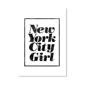 "Plakat ""New York City Girl"", 42x60 cm"