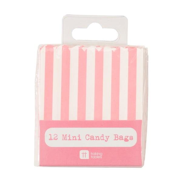 Komplet 12 torebek papierowych Mini Candy