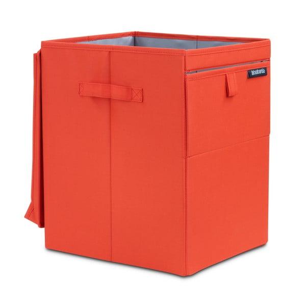 Czerwony pojemnik na pranie Brabantia Hit Red, 35l