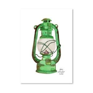 Autorski plakat Oil Lamp, 30x42 m