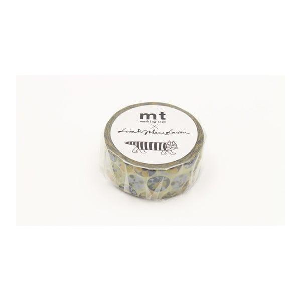 Żółto-niebieska taśma dekoracyjna washi MT Masking Tape Succulent