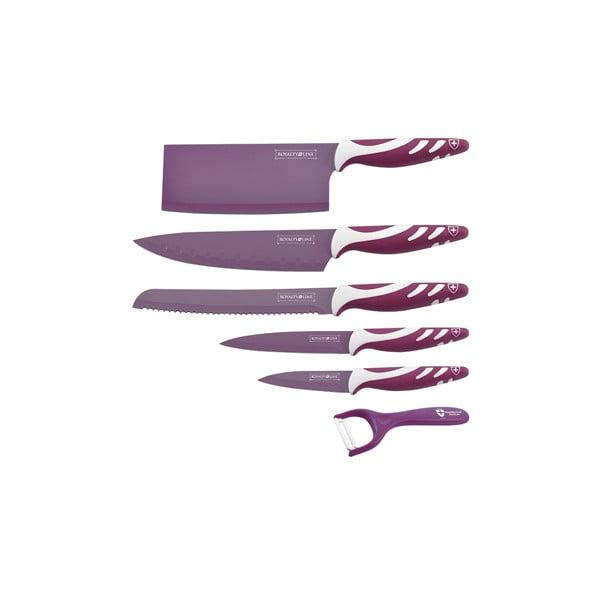 6-częściowy komplet noży Chef Non-stick Color, fioletowy
