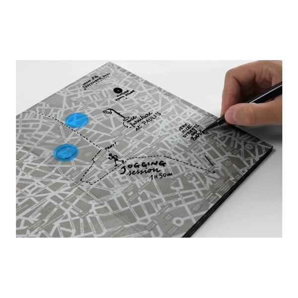 Mapa Sydnej z przezroczystymi kartkami na notatki Palomar Transparent City