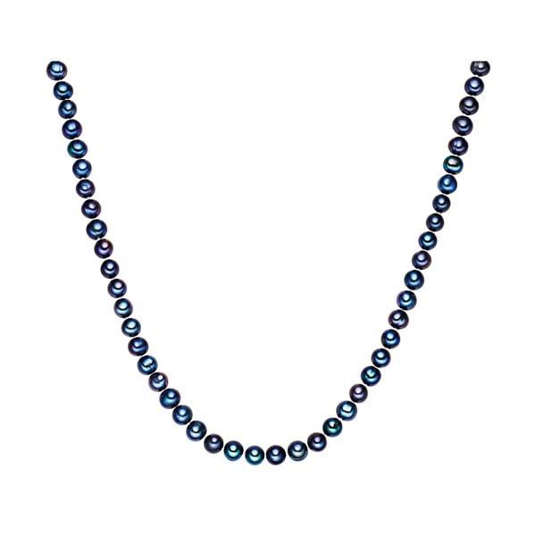 Niebieski perłowy naszyjnik Chakra Pearls, 120 cm