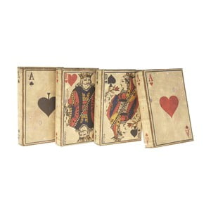 Zestaw 4 drewnianych pudełek Antic Line Cards