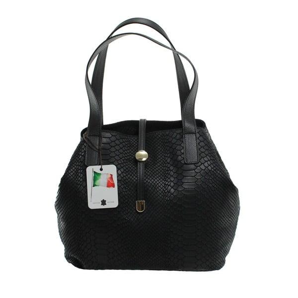 Czarna skórzana torebka Giulia