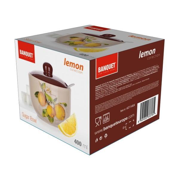 Ceramiczna cukierniczka z łyżeczką Banquet Lemon