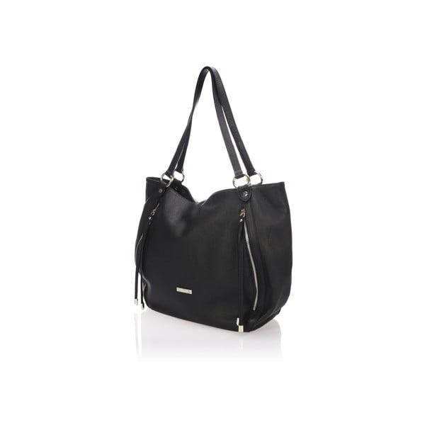 Skórzana torebka Krole Kelly, czarna