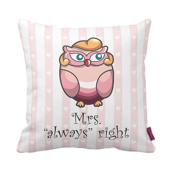 Poduszka Mrs Owl, 43x43 cm