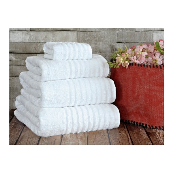 Biały ręcznik Irya Home Wellas Bamboo, 30x50 cm