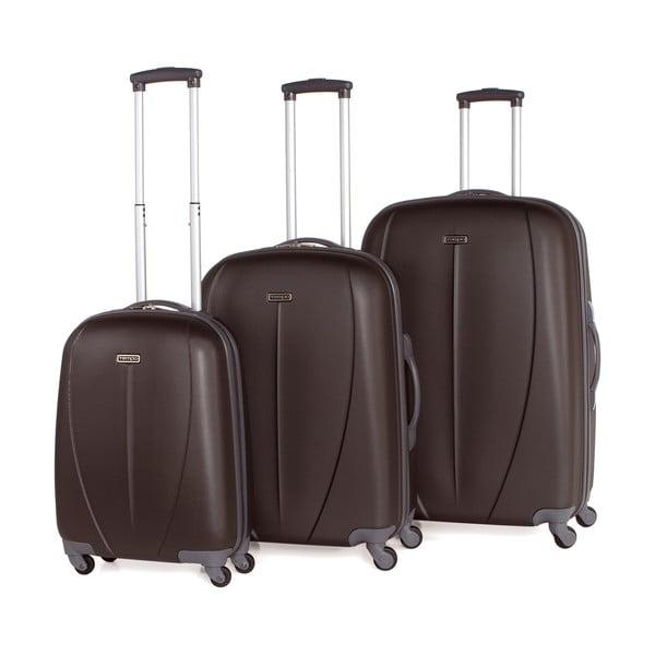 Zestaw 3 walizek Tempo Antracita