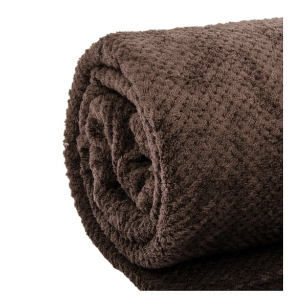 Narzuta na łóżko Nidoux Brown, 180x220 cm