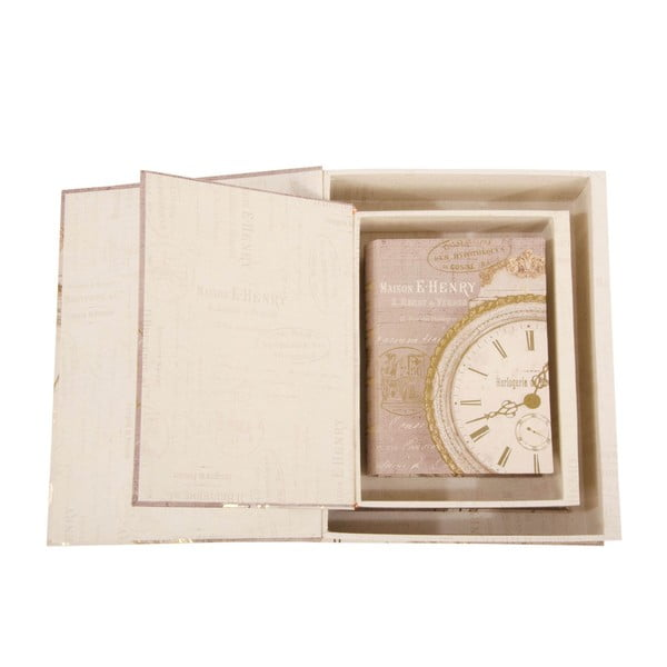 Zestaw 3 pudełek Clocks