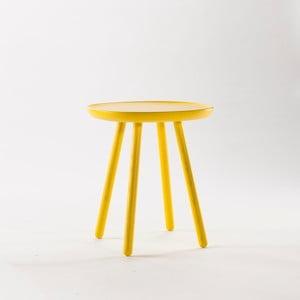 Żółty stolik z litego drewna EMKO Naïve Small