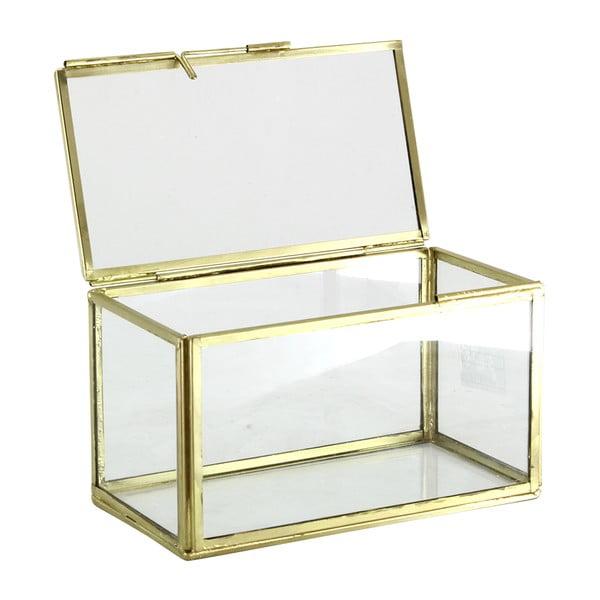 Zestaw 2 szklanych pojemników Small Brass