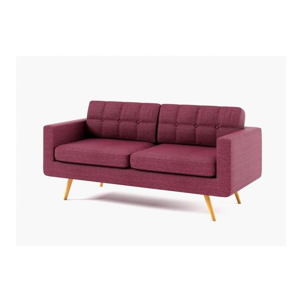 Sofa trzyosobowa  New York, ciemnoróżowa