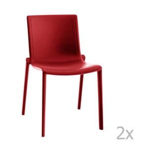 Zestaw 2 czerwonych krzeseł ogrodowych Resol Kat