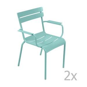 Zestaw 2 morskich krzeseł z podłokietnikami Fermob Luxembourg