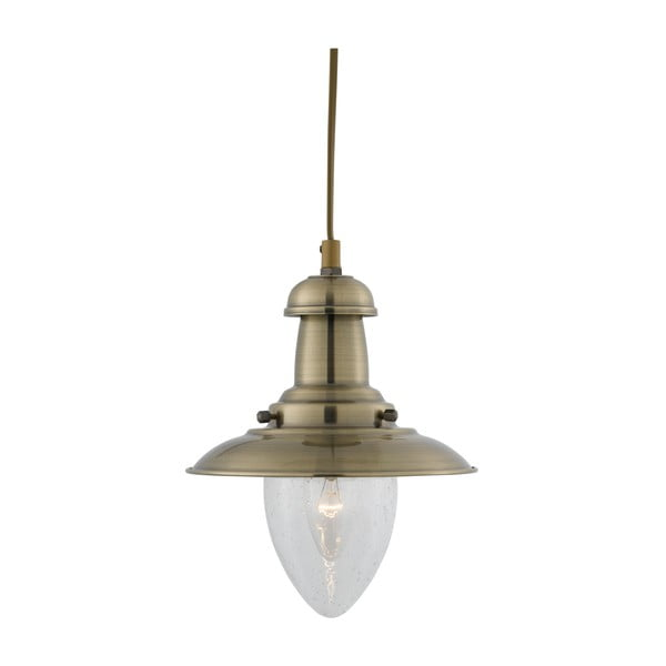 Lampa wisząca Searchlight Fisherman, złota