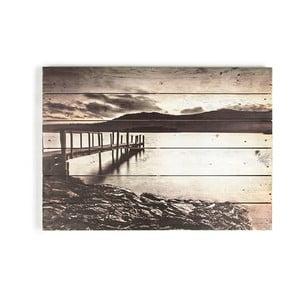 Obraz z drewna Graham & Brown Tranquil Jetty,70x50cm