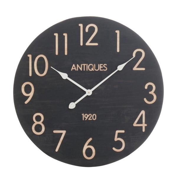 Zegar ścienny J-Line, czarno-beżowy