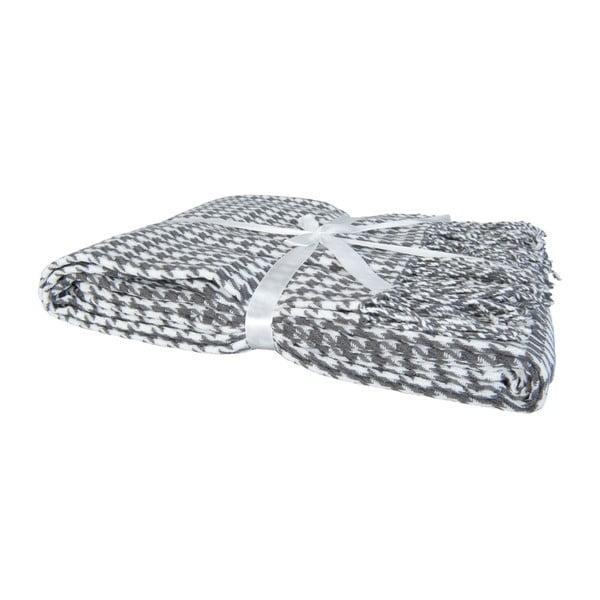 Pled Clayre 130x150 cm, szaro-biały