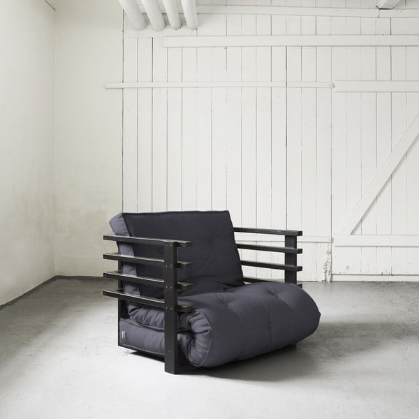 Fotel rozkładany Karup Funk Black/Gray