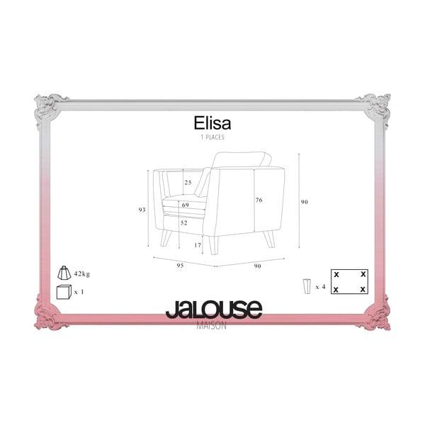 Fioletowy fotel Jalouse Maison Elisa