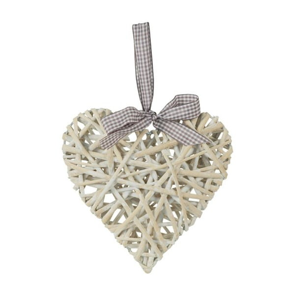 Serce z wikliny, białe, 50 cm